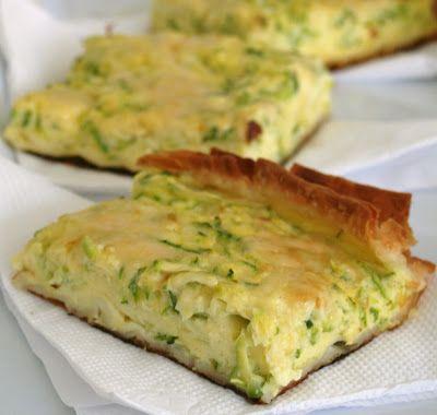 Tarta de zucchinis rallados