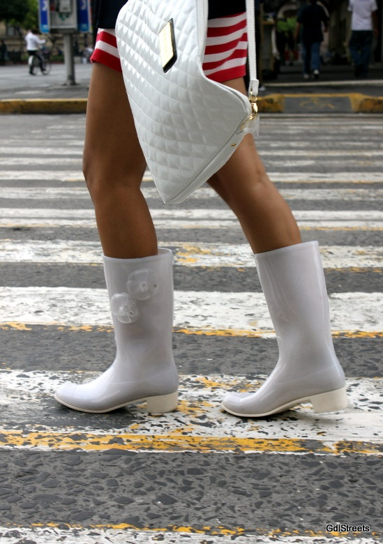 chanel rain boots. chanel rain boots - photo shoot by gdlstreets