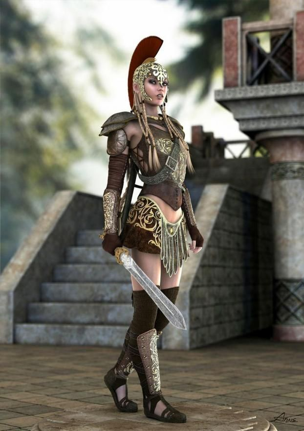 A Fantastic Female Gladiator's Costume