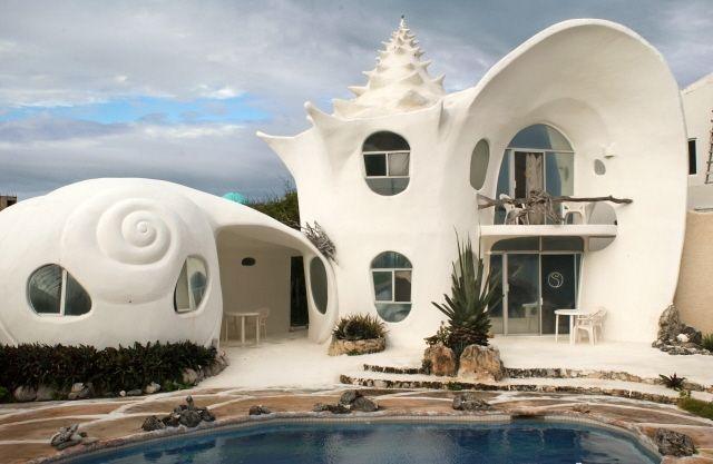 Isla Mujeres House Rental: Casa Caracol Caribbean Paradise Unique Home | HomeAway- live like Ariel!!!!