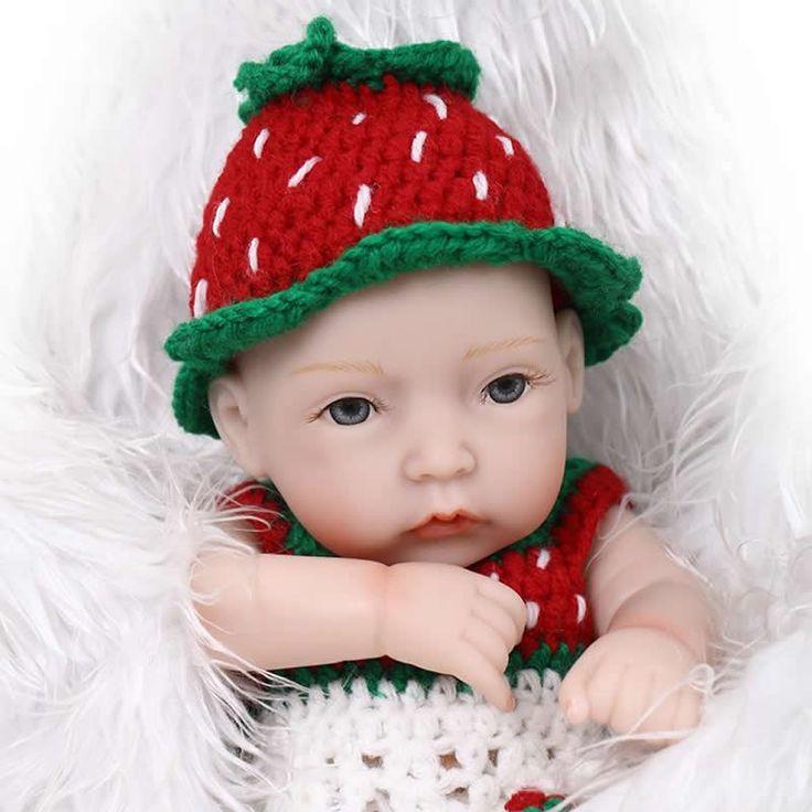 Gentle Touch Full Silicone Vinyl 11 Inch Tiny Reborn Baby Doll Girl Body Mini Newborn Princess Dolls Kids Birthday Gift