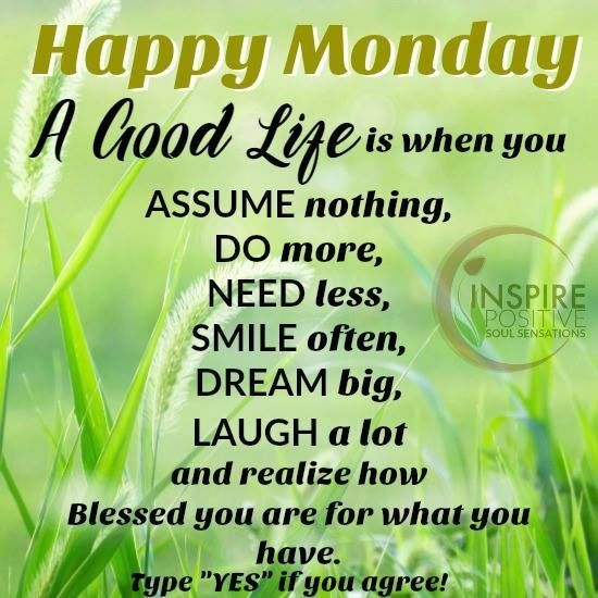 Happy Monday You Are Blessed monday good morning monday quotes good morning…