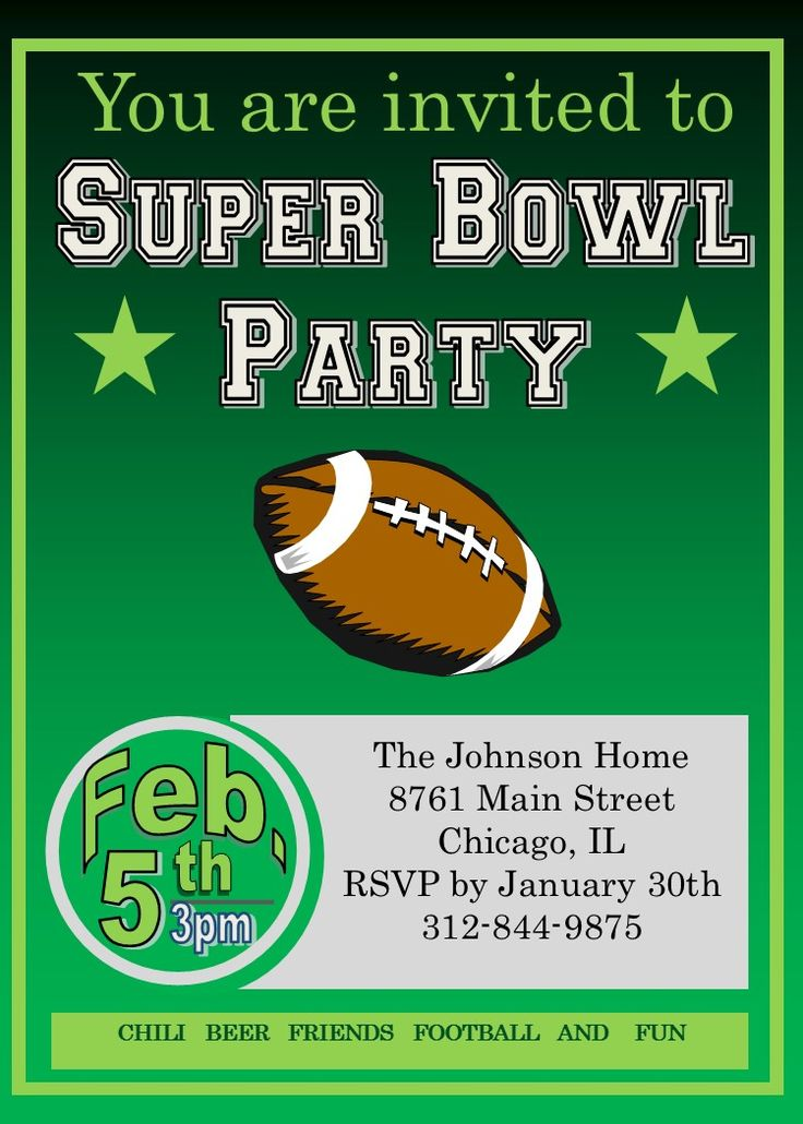 88 Best Super Bowl Party Invitations Images On Pinterest Ticket