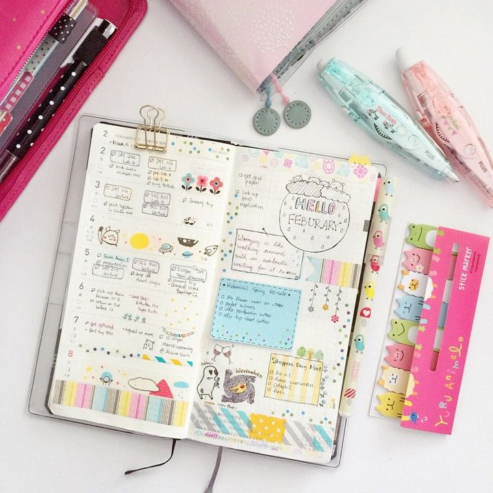 "Hobonichi weeks | instagram somethingmint ""last week in my hobonichi It's been raining all week ʕ•͡-•ʔ☂"