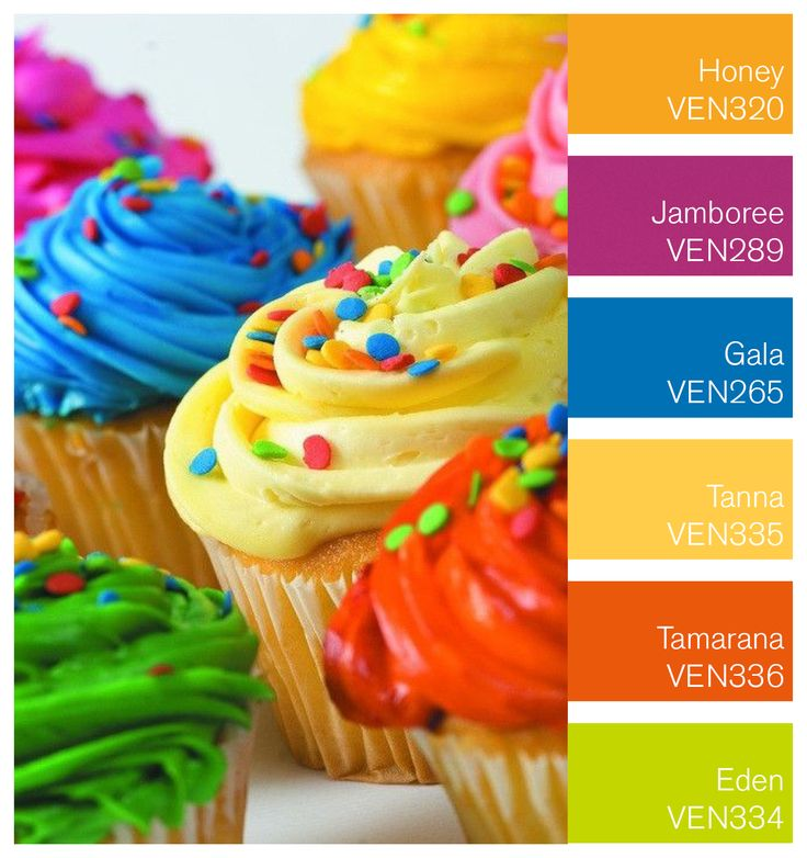 To celebrate National Cupcake week we created a cupcake inspired colour palette