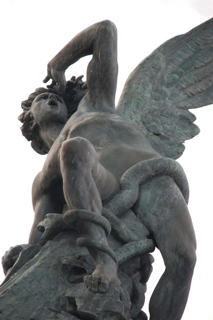 Fuente Ángel Caído, parque El Retiro.