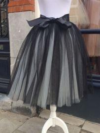 Tule rok - zwart grijs
