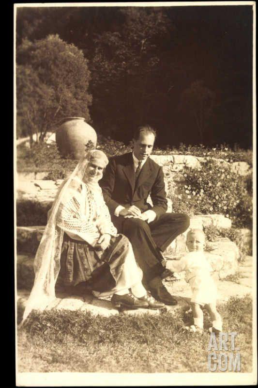 Ileana and Anton with their son.