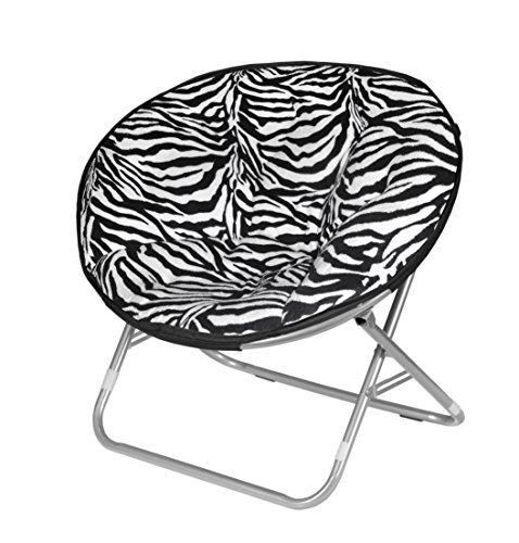 Urban Shop Zebra Faux Fur Saucer Chair (bestseller)