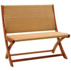 Eucalyptus Outdoor Folding Bench: $200