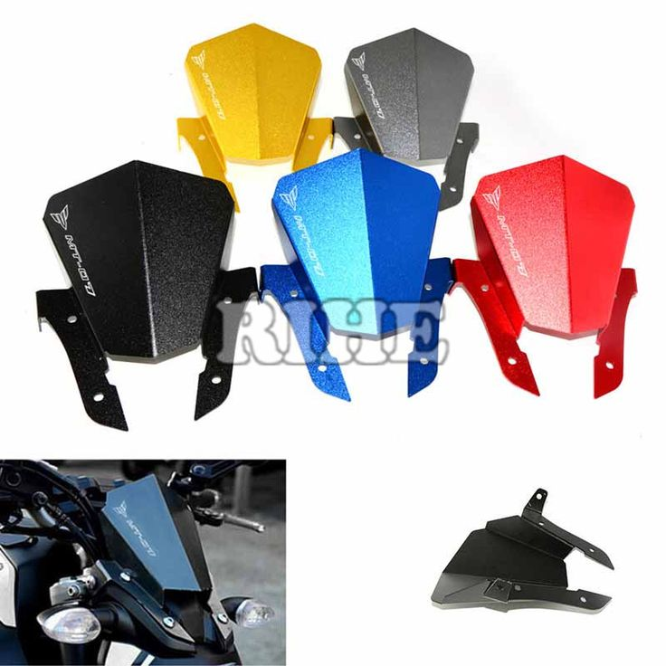 Motorcycle Aluminum high quality 6061 Anodized Front Windshield Windscreen Wind Deflector For Yamaha MT07 MT-07 2013 2014 2015