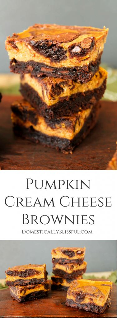 These Pumpkin Cream Cheese Brownies melt in your mouth & fill your home with…