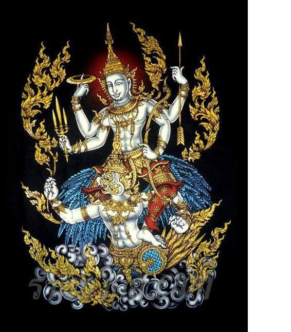 Vishnu Thai Style ศ ลปะร วมสม ย จ ตรกรรมฝาผน ง ศ ลปะไทย