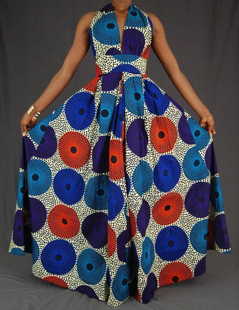 African Print maxi dress / African print Dress / Ankara dress