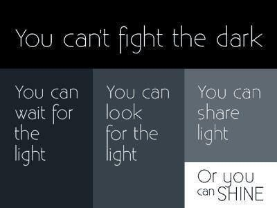 Can't fight the dark