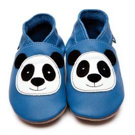 Babyschuhe mit Panda in Blau :-).