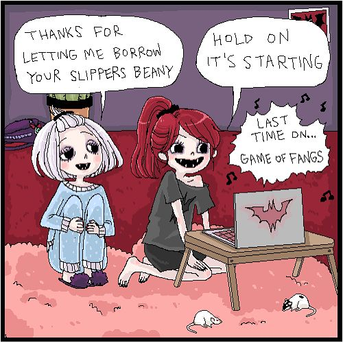 "Vampire High School (@vampirehighschool): ""Game of Fangs"""
