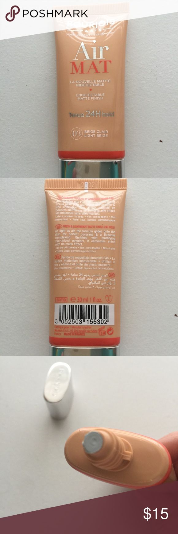Bourjios Air May Foundation Light Beige NO TRADES. New / Sealed. Not sold in USA Bourjois Makeup Foundation