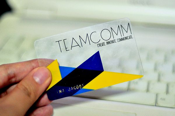 2013: TeamComm Membership Card on Behance