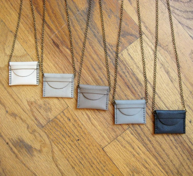 Cute Leather Pouch Necklace.
