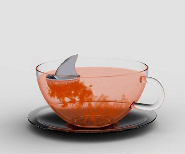 Sharky Tea Infuser / If you need to find kitchen accessories then this Sharky Tea Infuser is jawsome! The Sharky Tea Infuser is a colossal tea strainer, being half tea infuser, half deadly fish! http://thegadgetflow.com/portfolio/sharky-tea-infuser/