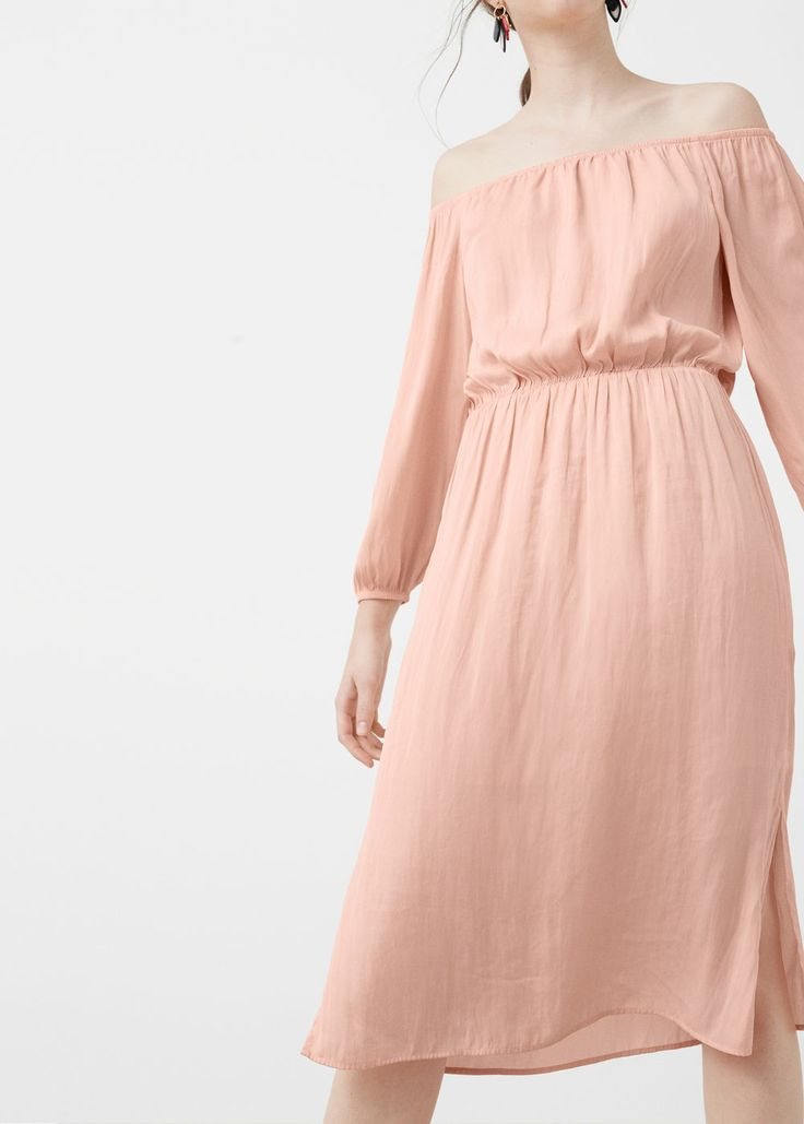 Off shoulder dress - MANGO USA
