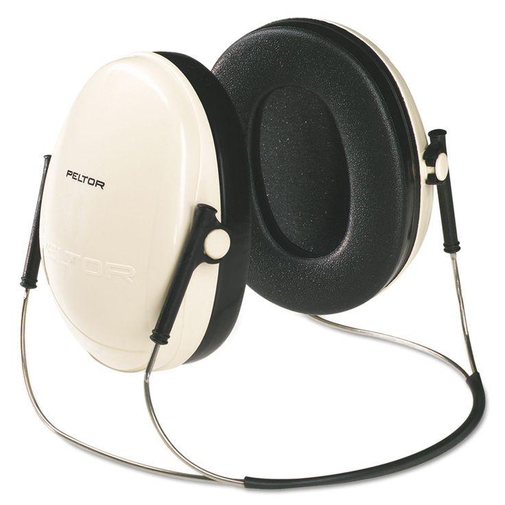 E A R Peltor Optime 95 Behind-The-Head Earmuffs, 21nrr, Beige/black