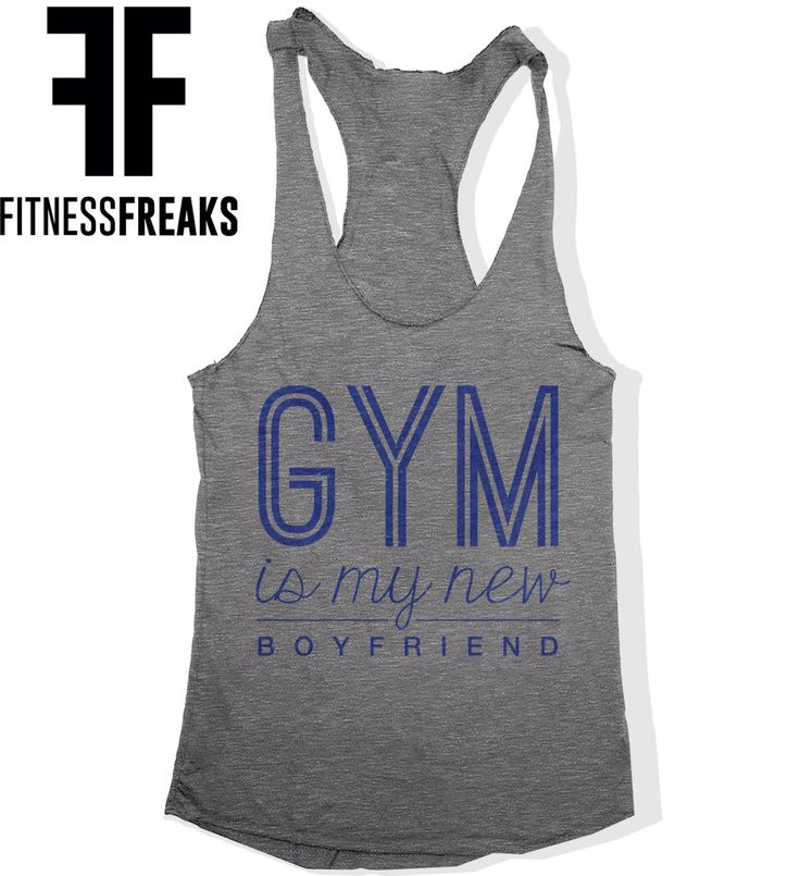 Gym Is My New Boyfriend BF Funny Soft Tri Blend Racer Back Women's Work Out Tank Top Fitness Tank Vintage Royal Blue Screenprint by FitnessFreaks on Etsy https://www.etsy.com/listing/210074460/gym-is-my-new-boyfriend-bf-funny-soft