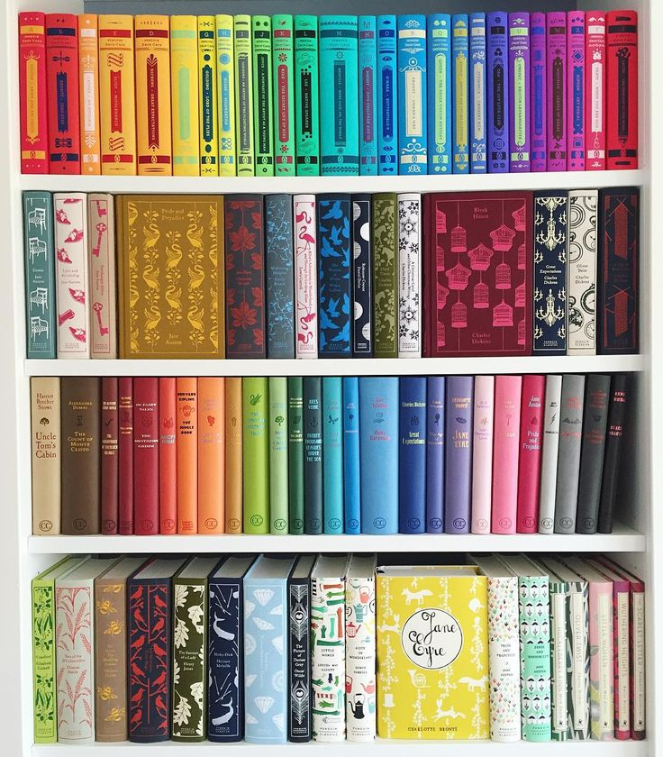 """""""Another #shelfie....cause colorful classics cheer me up! Oh, and I just rearranged a couple of the shelves so I can make more room for new additions and I…"""""""
