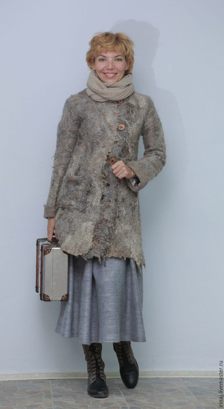 """Купить валяное пальто """"Village"""" в стиле бохо - бохо, бохо-стиль, бохо-шик"""