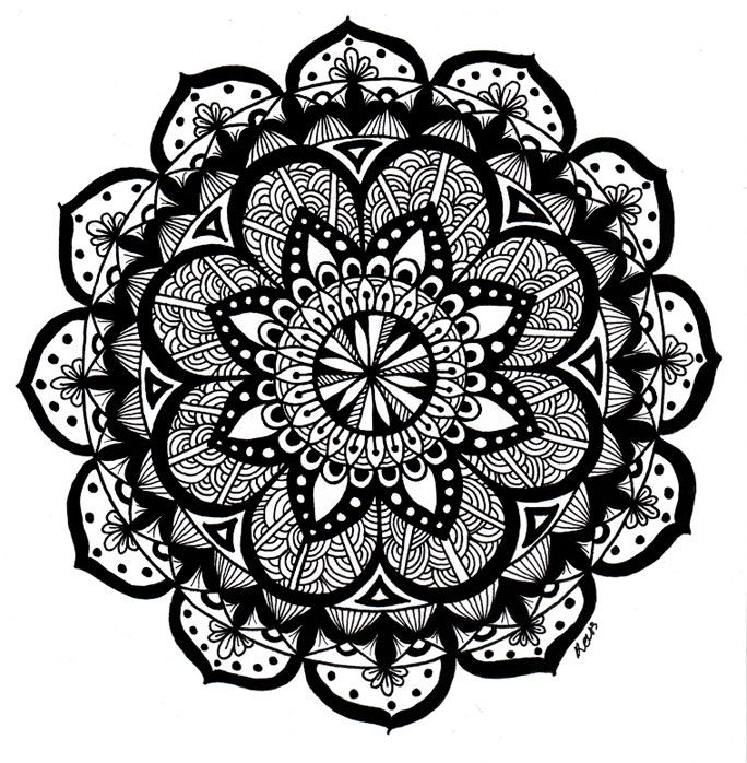 Radial Designs Coloring Pages