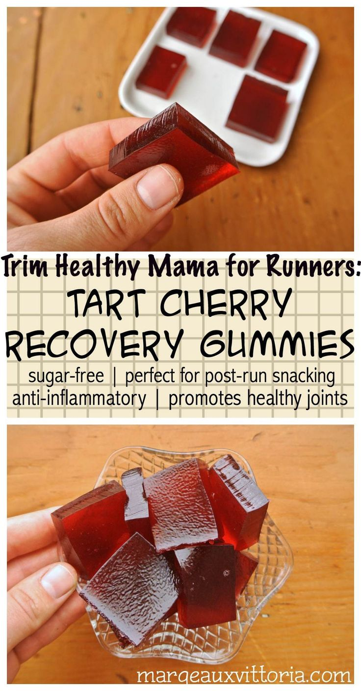 Trim Healthy Mama for Runners Tart Cherry Recovery Gummies
