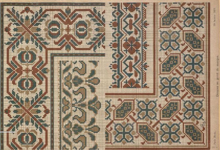 Gallery.ru / Фото #61 - старинные ковры и схемы для вышивки - SvetlanN