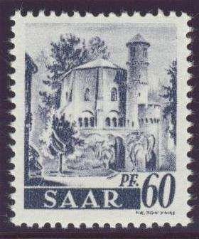 Germany, Saar, Saarland 1947, Alter Turm, 60 Pfg., Neuauflage, ohne Aufdruck, postfrisch Pracht (postfr., Mi.-Nr.236 II fA/Mi.EUR 170,--). Price Estimate (8/2016): 50 EUR.