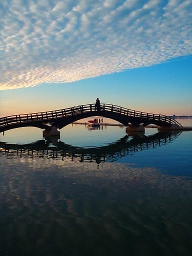 Bridge on Lefkada, a Greek island in the Ionian Sea on the west coast of Greece.