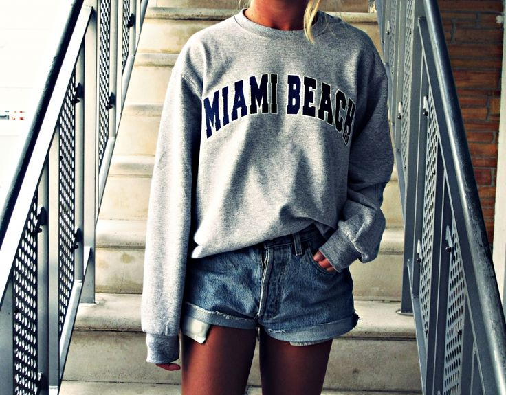 College Sweater & Jeans