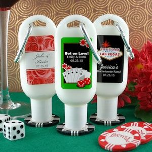 Personalized Sunscreen Las Vegas Party Favors