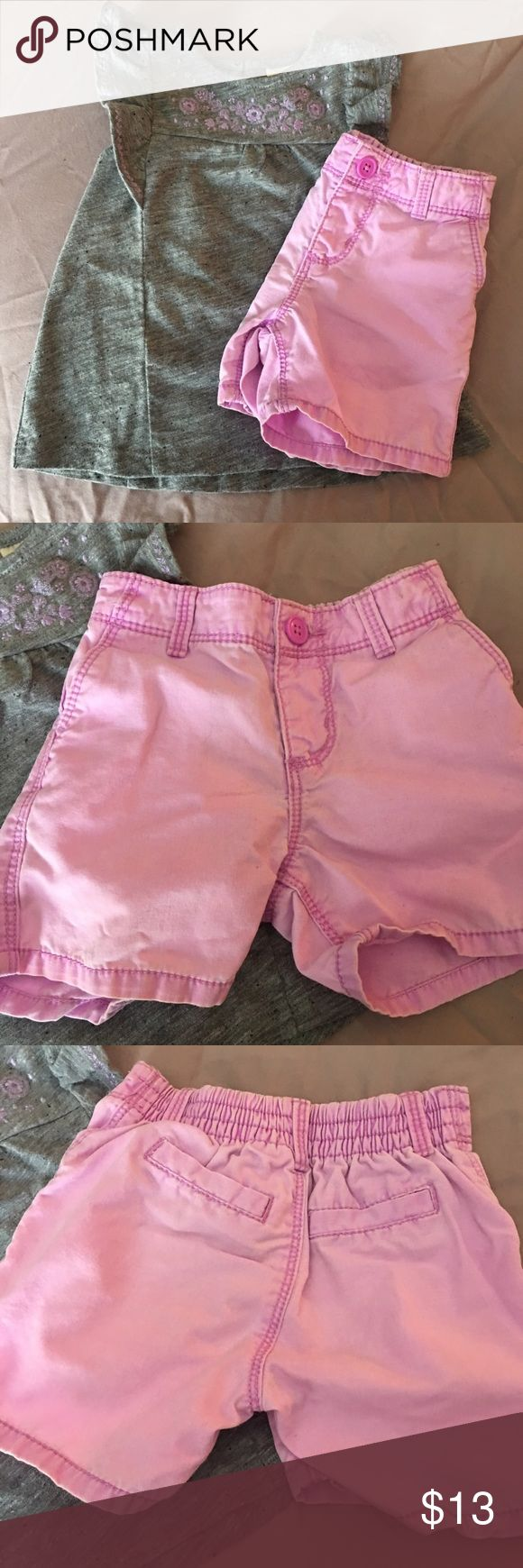 Lavender Jean Cotton Shorts These are too cute, can be rolled for a more stylish look.  They look like jean shorts but they aren't Denim.  Last picture is closest to color.  Gently worn Carter's Bottoms Shorts
