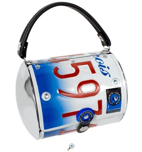 how to make license plate purse