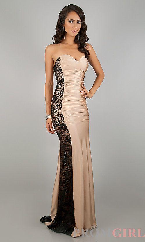 Long lace prom dress