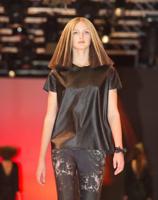 Davines Model onstage at Cosmoprof 2013!