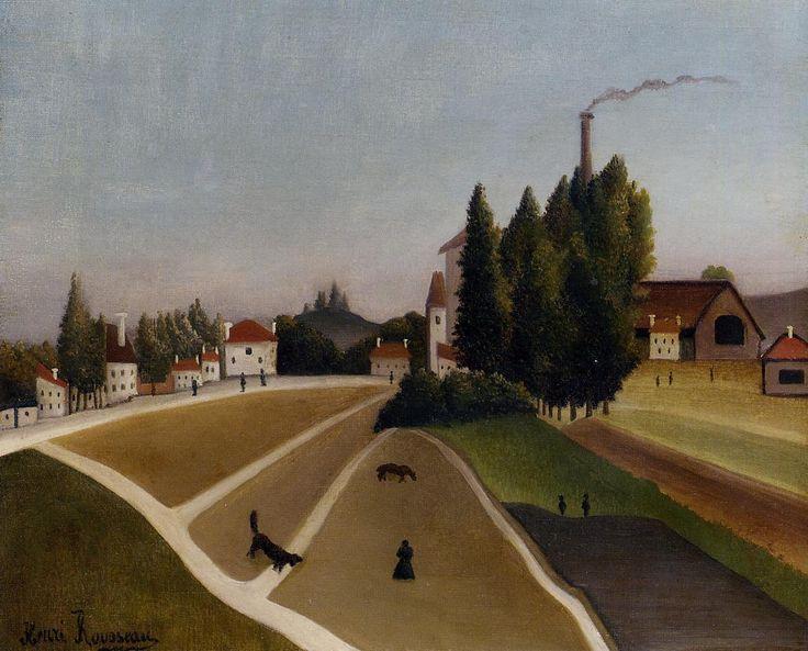 Landscape with Factory - Henri Rousseau