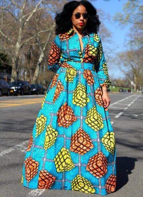 2baf57aff126 2018 Maxi Ankara Dresses   Classical Ankara Gown Styles Gallery ...