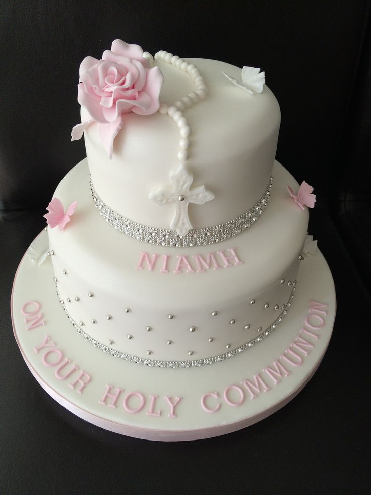 Resultado de imagen para first communion cakes for girl
