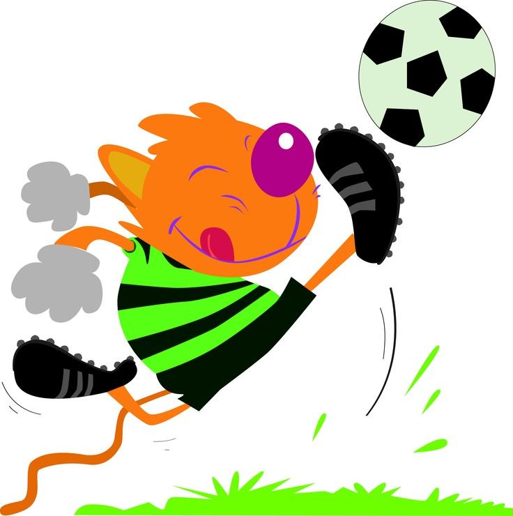 Zyro jugando al fútbol.