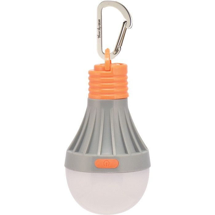Great addition to your key chain, backpack, purse, or wherever you need a little light. Tent Bulb 1.0: 40 lumens of light and includes 4 modes: high, low, flas