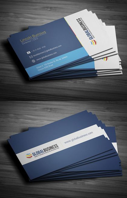 Modern Stylish Business Cards Design4