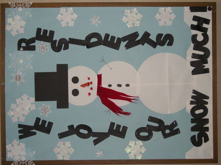 "This was my 1st bulletin board.  I wanted it to stay up past Christmas so I made it ""Winter"" friendly.  I like it because it reflects how much our residents are loved at our nursing home!"