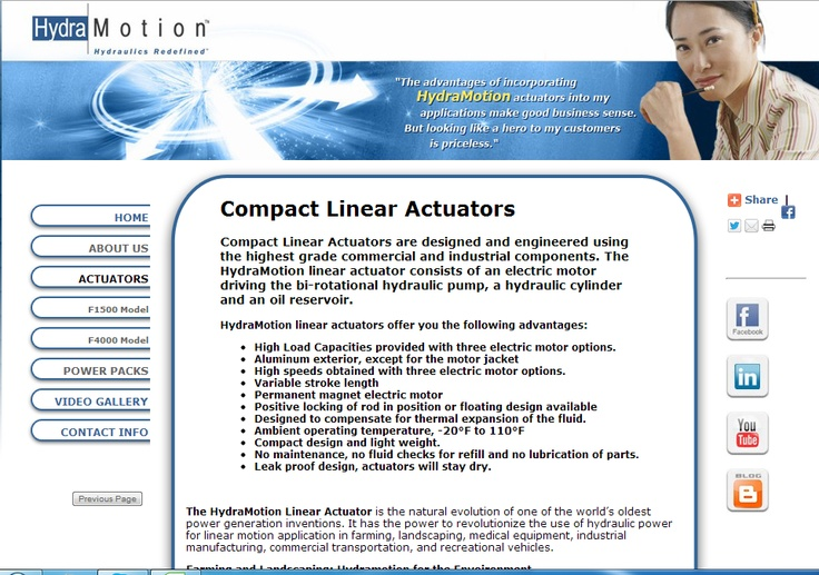 Compact Linear Actuators are designed and engineered using the highest grade commercial and industrial components