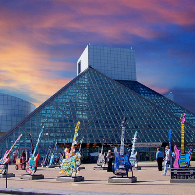 Rock and Roll Hall of Fame, Cleveland, Ohio! I just went the other weekend!! :)